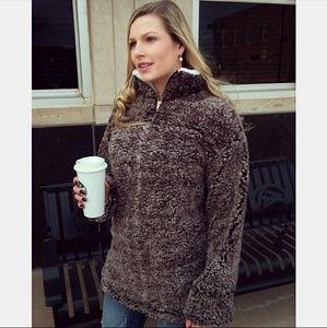 Jackets & Blazers - TINA Softest pullover - MOCHA BROWN